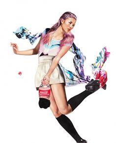 MINNI HAVAS #girl #bottle #minni #jumping #finland #illustration #havas #fashion #cola