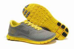 Mens Nike Free 4.0 V2 Wolf GreyReflective Silver-Maize Shoes #fashion