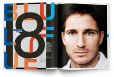 frank lampard layout magazine typography football 8