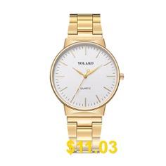 Yolako #Men #Fashion #Casual #Chronograph #Stainless #Steel #Quartz #Watch #- #GOLD