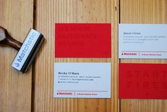 Matchstic Identity - FPO: For Print Only #stamp #cards #business