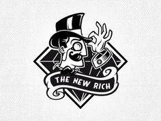 The_new_rich #rich #community #illustration #logo #new