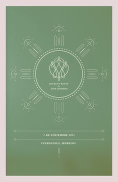 Jose & Joss :: Wedding invitation (back) / Cuernavaca, Mexico