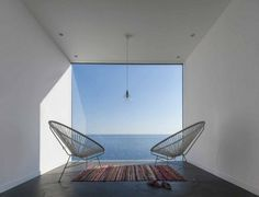 Geometric House with Several Points of View #window #view #sea #architecture
