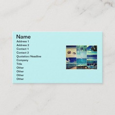 Starry Starry Caribbean Collage Business Card