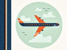 Dribbble - Airplane by Adam Grason #illustration #airplane #texture