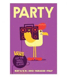 Vans Off The Wall Spring Classic 3 - Mauro Gatti's House of Fun #illustration #stereo #chicken