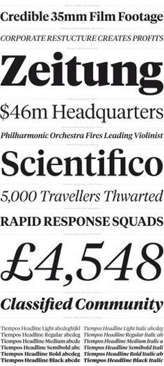 Klim / Retail / Tiempos Headline Samples
