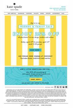 Enjoy 25% Off Kate Spade #design #discount #spade #kate #fashion #sale #mailer #25 #newsletter
