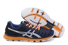 Mens Asics Gel Speedstar 6 Trainers Blue Orange Shoes #shoes