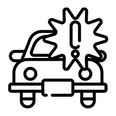 See more icon inspiration related to car, insurance, transportation, accident, exclamation mark, signs, vehicle and transport on Flaticon.