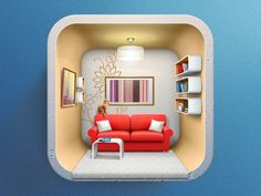 Icon for Interior design applicaion #icon #design #app #room