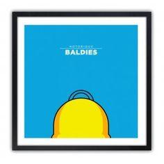 Notorious Baldie HOMER by Mr Peruca #print