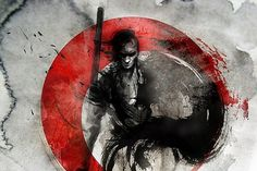 Looks like good Illustrations by Rola Chang #fight #warrior #japan #painting