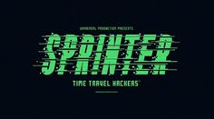 Sprinter | Flickr - Photo Sharing! #green #movie #typography