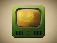 Braun HF #old #icon #television #design #retro #lights #illustration #braun #app #vintage #gold #green