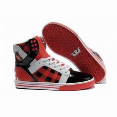Supra-Skytop High Tops Red White Black colorways #fashion