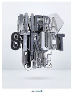 AMP INFRASTRUCTURE on the Behance Network #typography