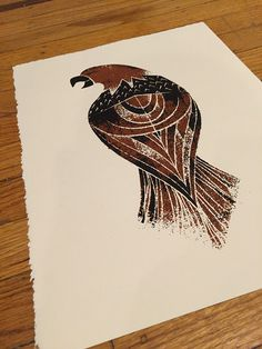 Eagle Print on Behance #print #black #texture #screen #illustration #eagle #brown