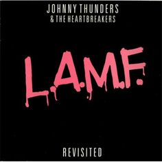 Johnny Thunders L.A.M.F. Revisited - Pink Vinyl UK LP RECORD (416788) #punk #thunders #design #graphic #record #cover #johnny #typography
