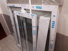 Metal-plastic window Veka Euroline (3, three chamber). Price in Krivoy Rog.