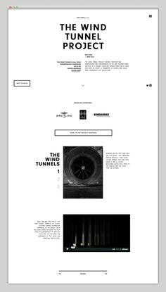 The wind tunnel project #web #web design #minimal