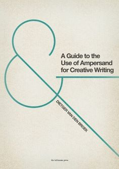 All sizes | A Guide to the Use of Ampersand... | Flickr - Photo Sharing! #typography #poster
