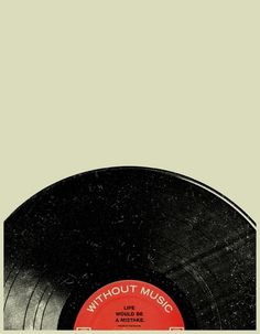 Buamai - Without music life would be a mistake. #music #vinyl #record #poster