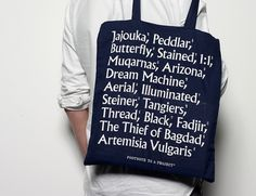 Footnote to a Project* | OK-RM #bag #print #typography