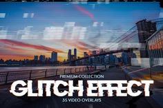 Glitch Effect Video Overlays