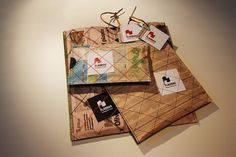 Flagbag on the Behance Network #packaging #reuse #package #recycling #stitching #newspaper #stitch #sew #flagbag