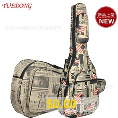 Thicken #36-inch #Newspaper #Guitar #Bag #39-inch #Literary #Fan #41-inch #Sponge #Ballad #Bag #/ #Flag #Wooden #Guitar #Backpack #- #COLORFUL #BLUE #40/41 #INCH