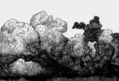 VI XII MMX #illustration #lines #clouds
