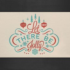 Let There Be Jolly Letterpressed Cards #vintage #letterpress #christmas #snow #trees #card #ornaments #snowflake