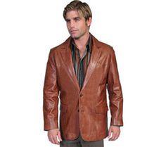 Men's Scully Leather Blazer