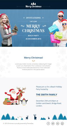 #Christmas #Responsive #Email Template with Online #Builder for Christmas #Party or #Event #Invitation http://goo.gl/f3Dnmt