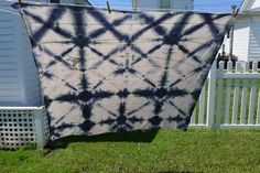 hand dyed shibori cotton sheet/fabric #shibori