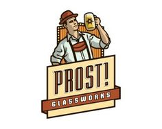 Prost! Glassworks by devey #logo