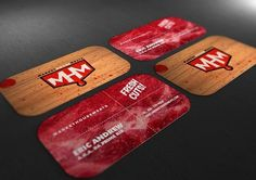 Business Cards : Miguel Ibarra #ibarra #business #design #meat #miguel #cards
