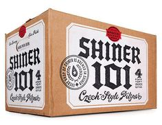 Shiner 101 Case #beer #white #cardboard #packaging #shiner #black #craft #case #distressed #and