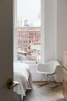 Bedroom details. New York Loft by Dieter Vander Velpen Architects. © Tineke De Vos. #bedroom
