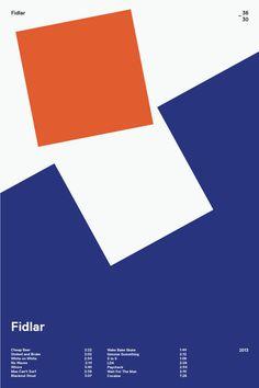 swissritual.ca #SwissRitual #graphic #design #minimal #music #grid #poster #swiss #illustration #Fidlar