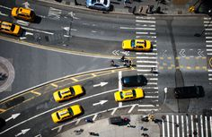 new york yellow new york #contrast #new york #photography #yellow #lines #top #taxi #birds eye view