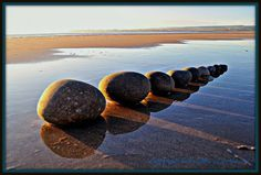 Land and stone art instalation #land #landscape #photography #art #eco #tone #beach