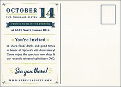 The Blog of G. Lamson #ivory #invitation #collateral #navy #blue #postcard #green