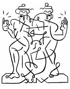Khmer Drawing - Ben Sanders #illustration #hand drawn #ben sanders #khmer drawing