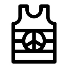 See more icon inspiration related to peace symbol, shapes and symbols, tank top, garment, femenine, clothing, top, female, fashion, clothes and woman on Flaticon.