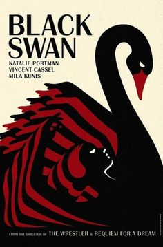 Frighteningly Beautiful Black Swan Posters Inspired By Vintage Graphic Design