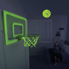 Glow in the Dark Indoor Basketball Hoop #tech #flow #gadget #gift #ideas #cool