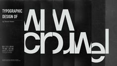 CARRBI: TYPOGRAPHIC DESIGN OF WIM CROUWEL #cut #calendar #grid #crouwel #poster #wim #typography